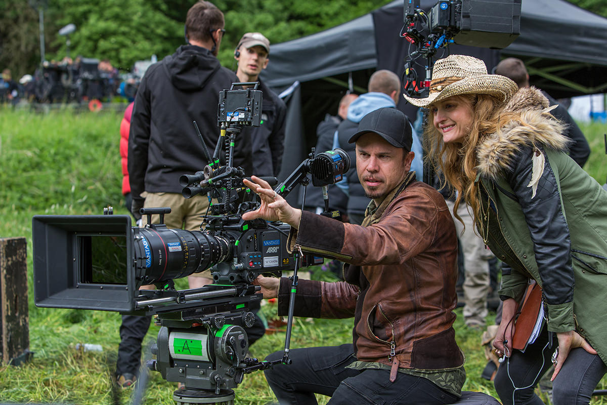 Cinematographer Denson Baker and director Claire McCarthy